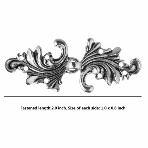 5Pairs Antique Unique Asymmetric Acanthus Leaf Cape Cloak Clasp Fasteners Button