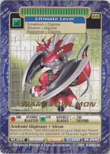 Details about DIGIMON DIGI-BATTLE GOLD STAMP RARE CARD - BOOSTER SERIES 4 -  BO-165 WARGROWLMON