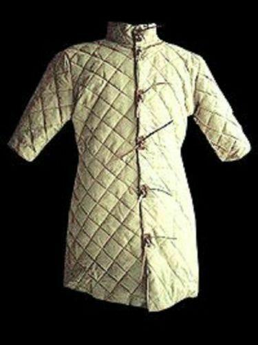 White Color Gambeson Royal Dashing Medieval-Reenactment-Historical-Padded-Aketon