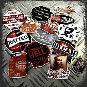 Oilcan-13x-stickers-gift-can-mega-tin-pack-dog-tag-bottle-opener-keyring