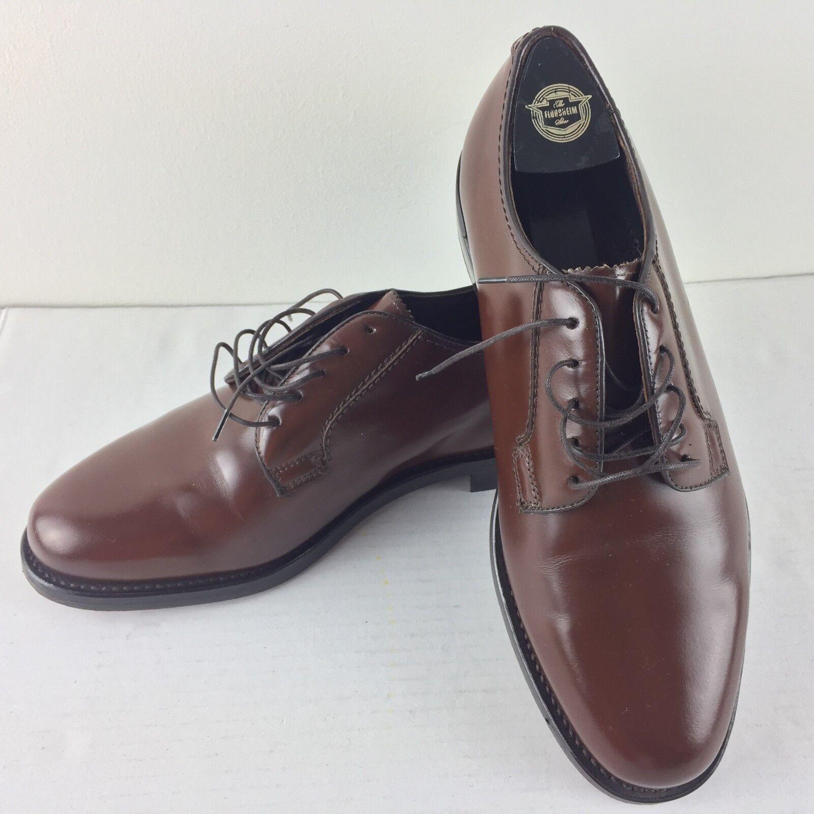 Florsheim shoes 7 3E Brown Plain Toe bluecher 11582