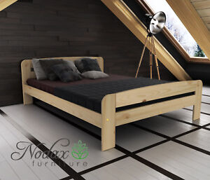 Nodax Wooden Furniture Pine Small Double Bed 4ft Select Underbed