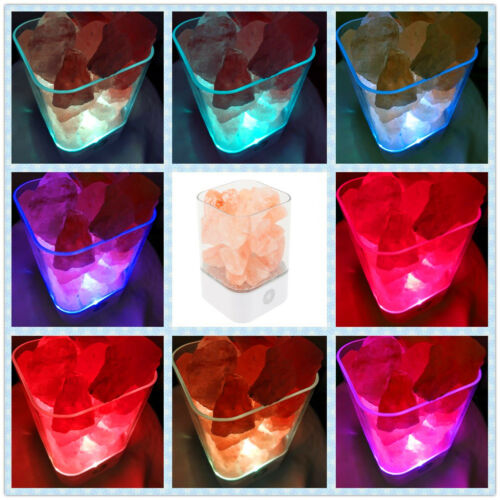 Himalayan Crystal Salt LED Lamp Night Light Air Purifier with Touch Switch USB