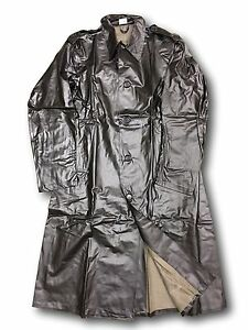 Swedish-Army-Vintage-Officers-Rubber-Pvc-Coats-Rare-New-Good-sizes