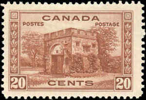 1938-Mint-H-Canada-F-Scott-243-20c-Pictorial-Issue-Stamp
