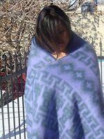 253 Soft Light Fair Trade Classic Brushed Alpaca Lavender Blanket Throw Artisan