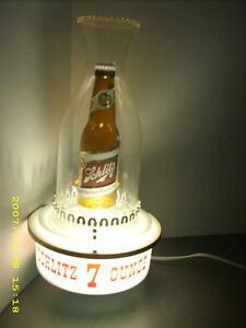 Vintage schlitz beer sign light 7 oz bottle 1959 lamp lantern bar image is loading vintage schlitz beer sign light 7 oz bottle mozeypictures Image collections