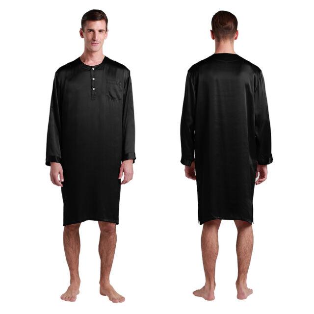 Mens Silk Nightshirt 22 Momme 100 Mulberry Silk Sleepwear Lilysilk ... b8b293a92