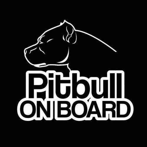 Pit Bull Car Sticker Pitbull On Board Dog Bumper//Window//Laptop Decal Waterproof