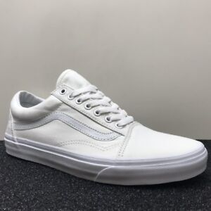 True Old Skool White Trainers Canvas Vans Unisex qp1Axwwa