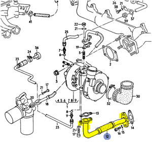 Details about AUDI 200Q 3B 5CYLINDER 1991 OIL RETURN LINE FROM TURBO TO OIL  PAN 034145735B