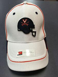 K) University of Virginia UVA Cavaliers Nike Football Blue Helmet Large Hat