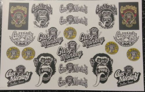 Monkey  Clear MATCHBOX,1:64  MADE IN USA! WATER-SLIDE DECALS FOR HOT WHEELS