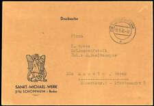 """FZ Baden,1948, """"Sankt-Michael-Werk"""" als Drucksache Brief (1573008347)"""