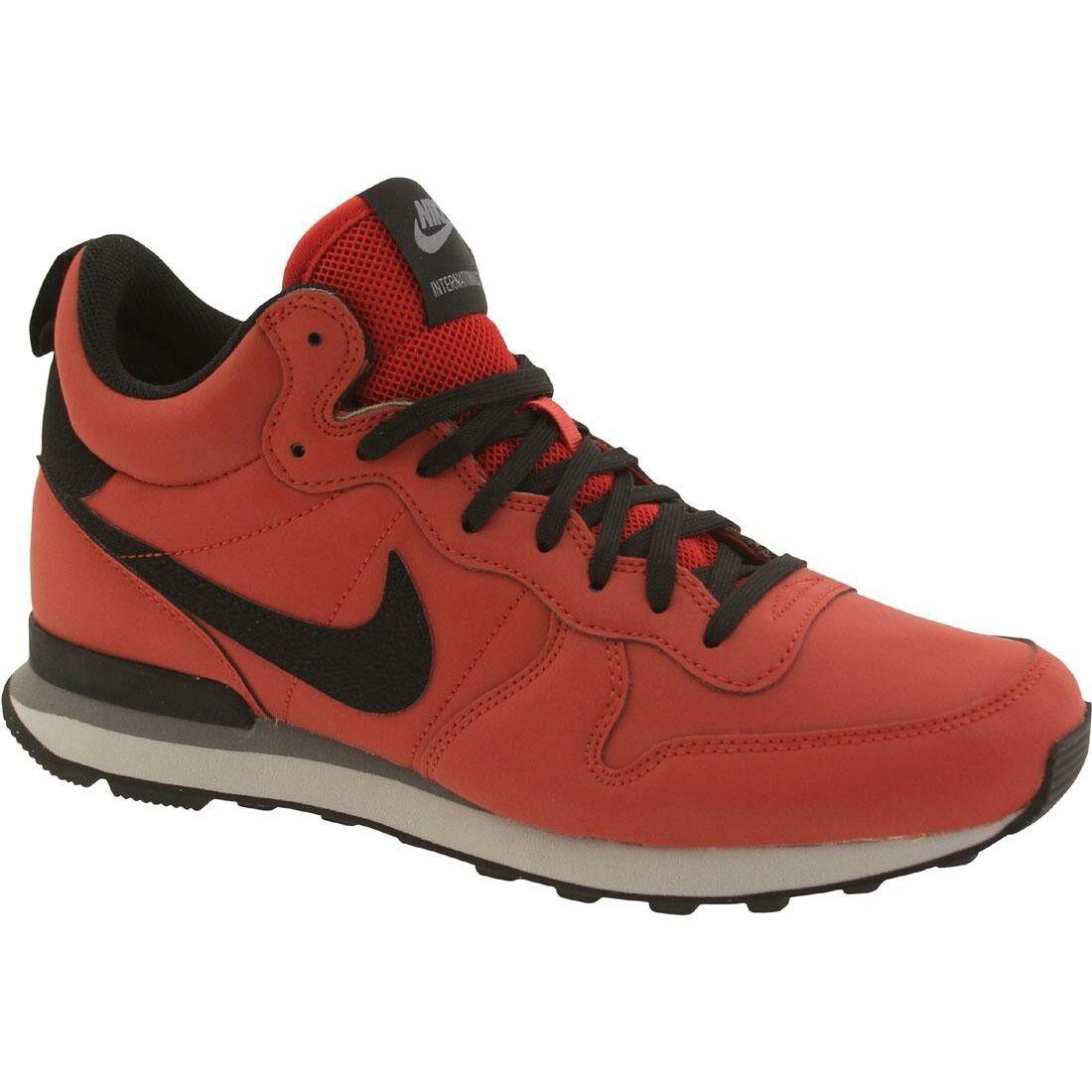 Nike De Hombres internationlist MID QS Rojo Negro De Nike Arcilla Roja 98729a