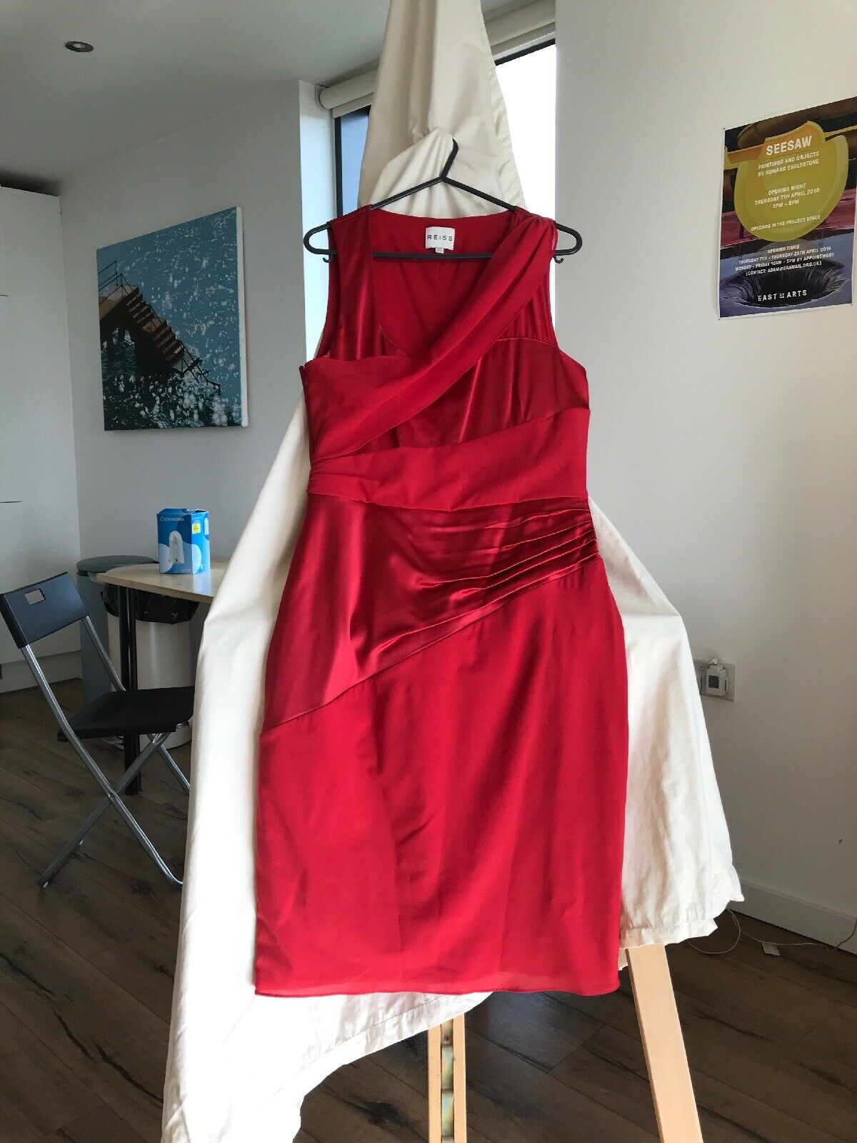 Reiss Red Dress Size 12 Perfect Condition Worn Once Only