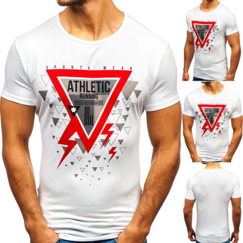 T-shirt Tee à manches courtes col rond slim motif imprimé print Hommes Bolf 3c3 Classic