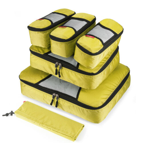 6PCs Travel Storage Bags Set Clothes Packing Cube Bag Luggage Organizer Pouch