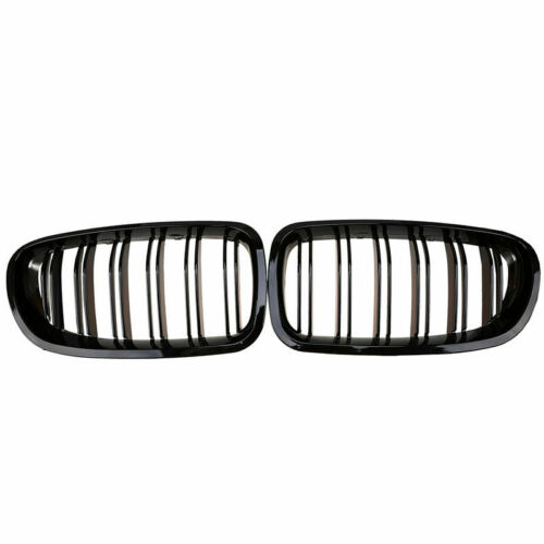 Gloss Black For 10-16 BMW F10 F11 F18 5 Series M Sport Front Kidney Grille Grill