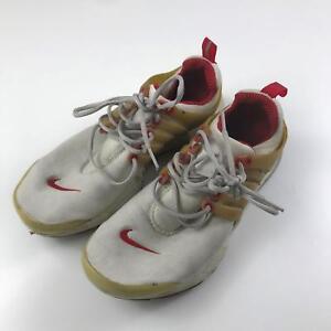 5c18db552ecd VTG 2001 Nike Air Preston Red Gray White Mens Running Shoes Sz XS