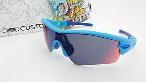 5b1a115de NEW Custom Oakley Radar Path Sunglasses Sky Blue / Positive Red ...
