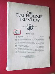 Dalhousie Review Halifax Nova Scotia First number 1921