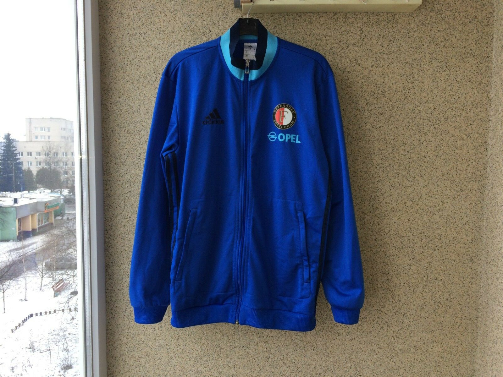 Chaqueta de fútbol Feyenoord 2015 2016 Adidas Azul M Camiseta de fútbol de Holanda
