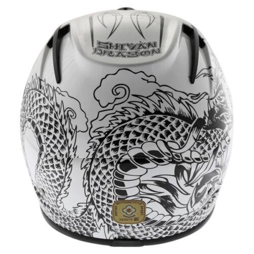 Marushin 888 RS Full Face Motorcycle Helmet Black White WAS £149.99 J/&S SALE