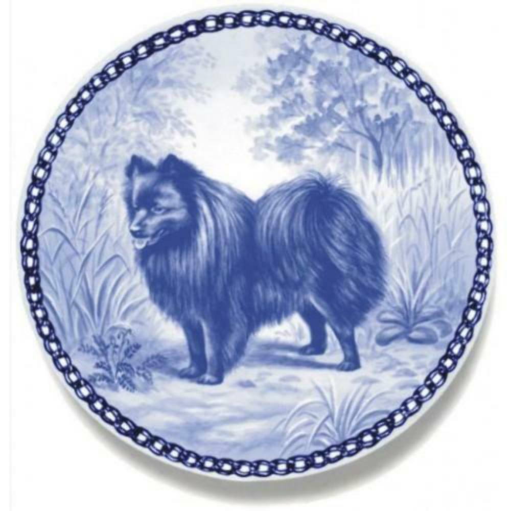 Miniature Spitz  Dog Plate made in Denmark from the finest European Porcelain