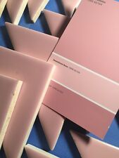 NOS Vintage Triangle Shape Shiny Pink Ceramic Tile Bathroom Restoration TA12