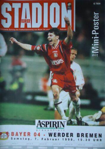 Programm 1997//98 Bayer 04 Leverkusen Werder Bremen