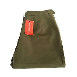 ELENA MIRO' women's trousers winter militare elastic vita 39-48 Made in Ita