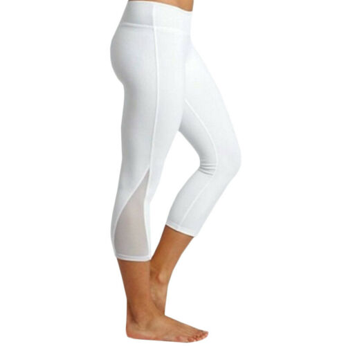 Womens Fitness Yoga Fitness Capri Legging Gym 3//4 Pants Stretch Cropped Trousers