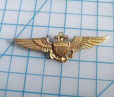 WW2 US Navy Pilots Wing Full Size 2.75  inch Pin Back LGB 1/2010kt  Balfour