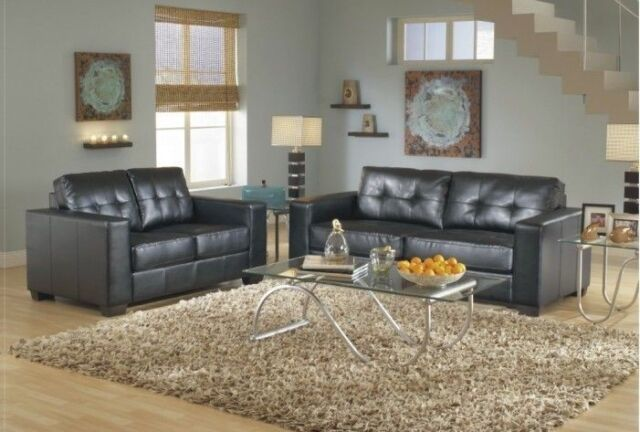 Magnificent 2Pc Contemporary Modern Leather Sofa Loveseat Set Living Room Furniture Caraccident5 Cool Chair Designs And Ideas Caraccident5Info