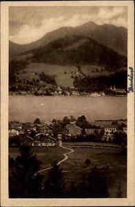 Bad Wiessee Bayern Ansichtskarte ~1910/20 Gesamtansicht Blick auf den Tegernsee
