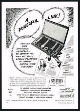 1950's Old Original Vintage 1956 Smiths De Luxe Wrist Watch Display Print AD