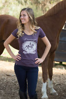 Cowgirls For A Cause dressage The Ultimate Dance Short Sleeve Tee-red-m