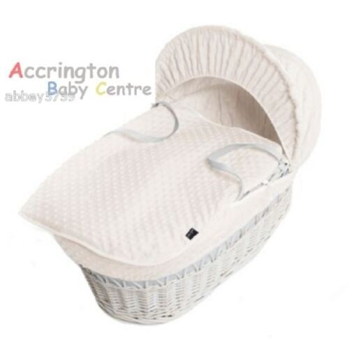 New Dimple Moses Basket Covers 4 Piece Bedding Set Inc Quilt,Skirt,Hood /& Sheet