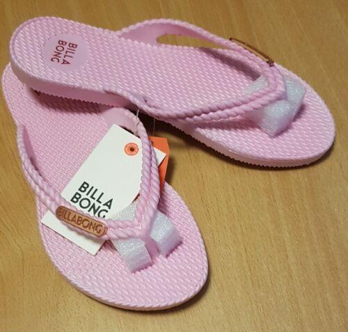 BILLABONG NEW Teen Girls Flip Flops Thongs Sandals KICKS ORCHID PINK Surf Logo