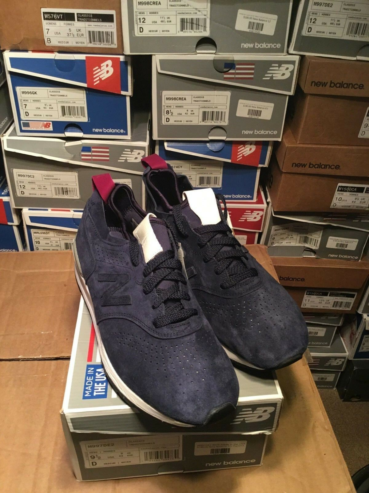 NEW BALANCE 997 M997 M997DE2 blueE MADE IN USA Size 9.5 & 12 BRAND NEW