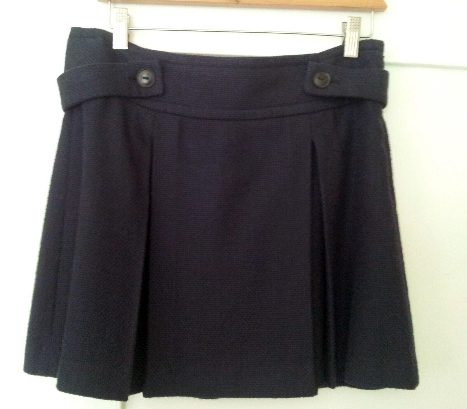 DKNY Short Skirt navy bluee woven - NWT Womens 4