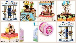 Jouets musicaux Nostalgic Roundabout Toy Kit Orgue de tonneau Présentoir Nouveautés