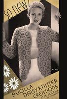 Bucilla 55 C.1931 Daisy Knitter Creations - Vintage Daisy Crochet Patterns