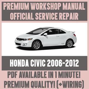 WIRING *WORKSHOP MANUAL SERVICE /& REPAIR GUIDE for HONDA CIVIC 2006-2012