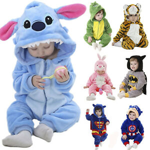 Image is loading Baby-Infant-Pajamas-Kigurumi-Animal-Costume-Cosplay-Romper- d3ff5a2908c3a