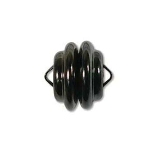 1 Set Mag-Lok Gunmetal Black Plated 11mm Magnetic Clasp with 2 Loops