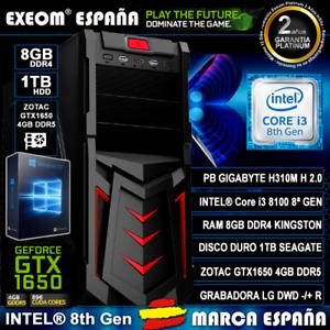 Ordenador-Pc-Gaming-Intel-Core-i3-8100-8GB-1TB-HDD-GTX1650-4GB-OC-de-Sobremesa