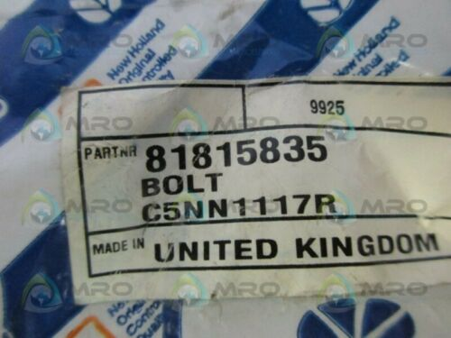 PKG OF 2 NEW HOLLAND C5NN1117R BOLT *NEW IN ORIGINAL PACKAGE*