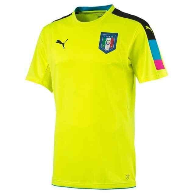 PUMA ITALY Sz L Men's Figc Italia Goalkeeper Short Sleeve Shirt 749006 13
